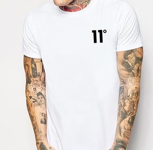 2020 Summer Cross Border T Shirts men New 11 Deg Men's Fashion Printing Round Neck T-shirt