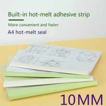 10pcs/Set A4 10mm Hot Melt Adhesive Envelope Bookbinding Machine Financial Tender Document with Office Book Cover Book Binding