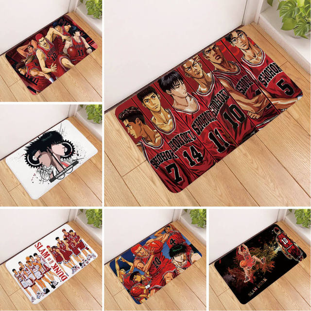 40*60CM Japanese Anime SLAM DUNK Sakuragi Hanamichi Rug Floor Door Mat For Living Room Bedroom Cartoon carpet Halloween Gift