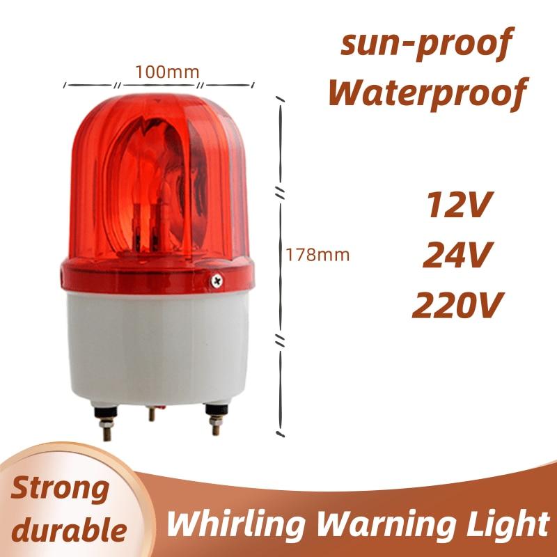 Multicoloured 12V/24V/220V LED Alarm Light Warning Lamp Signal Buzzer Rotary Strobe Flash Siren Emergency Sound Illumination