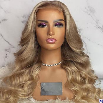 Indyjski popiołu blond luźna fala peruki typu Lace z ludzkich włosów 180 gęstość 4 #215 4 Silk baza koronki przodu peruki bielone węzłów dla czarnych kobiet tanie i dobre opinie Eversilky Długi Luźne głębokie Pełne koronkowe peruki Silk Baza Peruki Remy włosy Ludzki włos Ręka wiążący Ciemniejszy kolor tylko