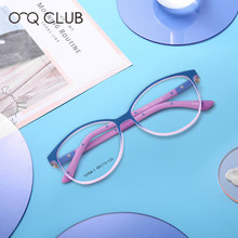 O-Q CLUB Kids New Round Glasses Frame TR90 Silicone Soft Spectacles Myopia Optical Children's Eyeglasses T2704-1