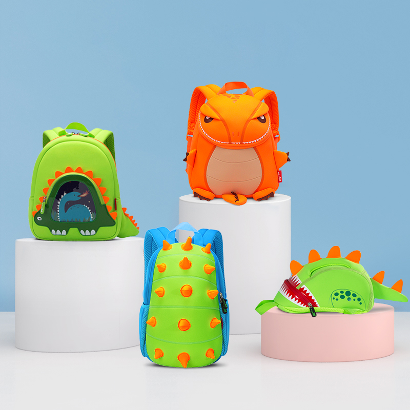 Fashion Dinosaur School Bags For Boys 3D Cartoon Animals Design Toddler Kids School Backpack Girls Schoolbag Travel Bag Gift