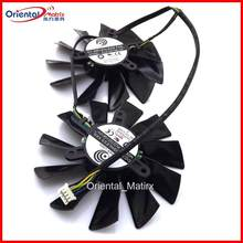 Frete grátis pld10015b12h dc 12 v 0.55a ventilador de vídeo para msi gtx680 R9-280X R9-270X R7-260X gtx770 gráficos ventilador refrigeração 4pin