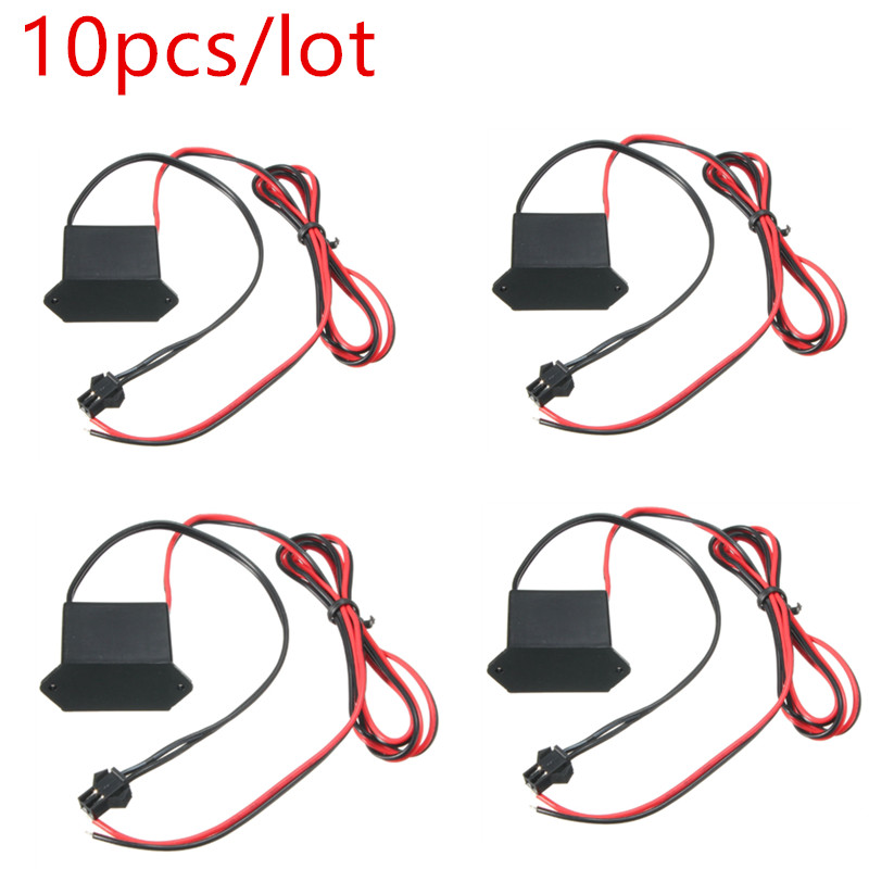 10pcs Neon EL Wire Power Driver Controller For 1-10M LED EL Wire Light Inverter Supply Adapter Flexible Neon Wire Driver DC 12V