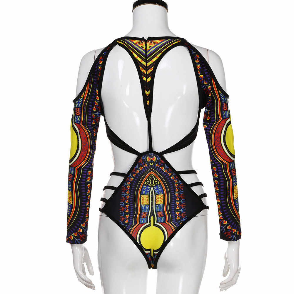 Wanita Afrika Gambar Retro Gaya Etnik Bikini Cetak Bikini Set Swimwear Push-Up Bra Empuk Musim Panas Baju Renang Pakaian Renang