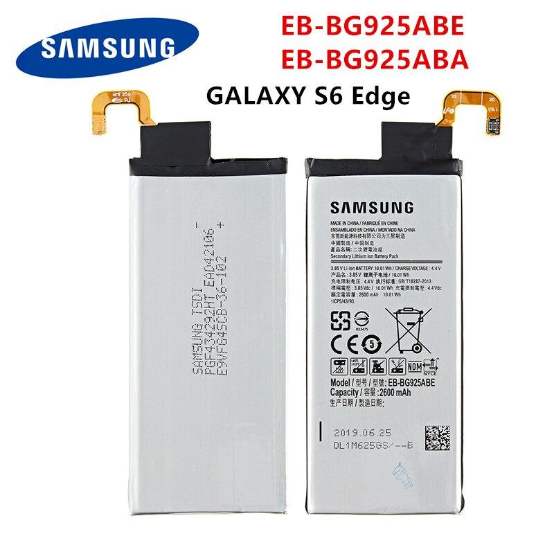 SAMSUNG Orginal EB-BG925ABE EB-BG925ABA 2600mAh Battery For Samsung Galaxy S6 Edge G9250 G925 G925FQ G925F G925S G925V G925A
