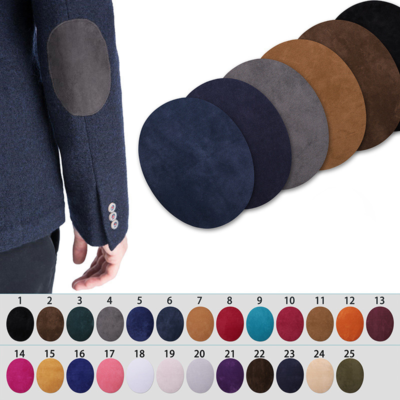 1PC Elbow Knee Patches For Backpacks Jacket Sweater Repair Badges Decoration Fabric Colorful Suede Elliptical  Iron On Tranfer