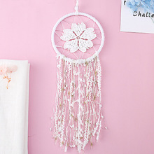Scandinavian Style Hollow Flower Dream Catcher Woven Wall Hanging Decoration White Dreamcatcher Wedding Party