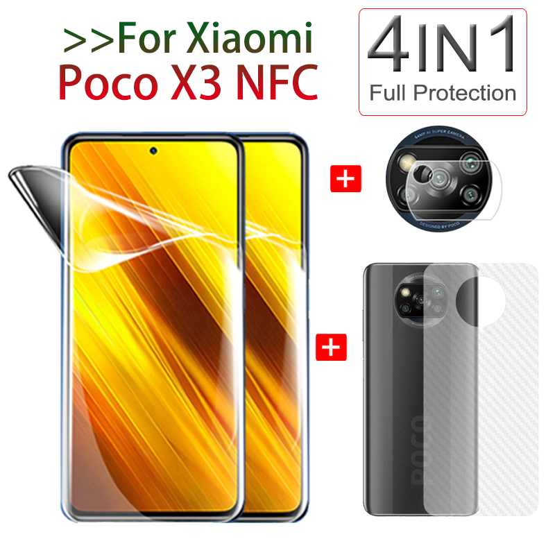 Полная защита на 360° Poco X3, передняя + задняя пленка для камеры, пленка для гидрогеля, Защитная пленка для экрана Xiaomi Poco X3 NFC, мягкое стекло покоx3нфс покофон x3 защитная пленка|Защитные стёкла и плёнки|   | АлиЭкспресс