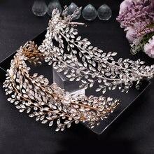 Свадебный головной убор topqueen серебро золото хрусталь ободки