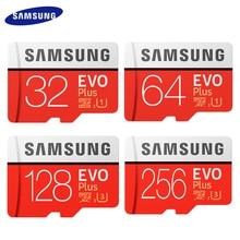 Samsung – Carte mémoire Evo Plus, 256 Go, haute vitesse 100 mo/s, Micro SD classe 10, cartes U3 TF UHS I, 128 Go, 64 Go, 32 Go