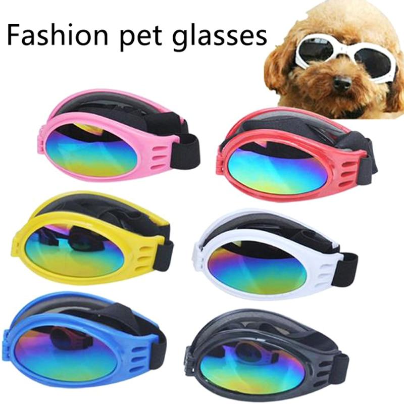 6Colors Foldable Pet Dog Glasses Small And Medium Dog Pet Glasses Pet Eyewear Waterproof Dog Protection Goggles UV Sunglasses