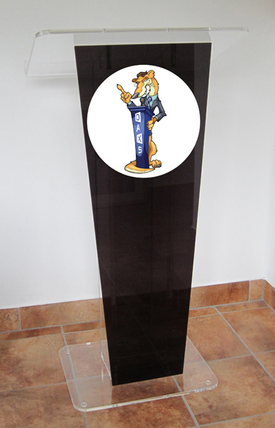 Black Special Graduation Ceremony Can Take LOGO Special Acrylic Podium Rostrum Plexiglass