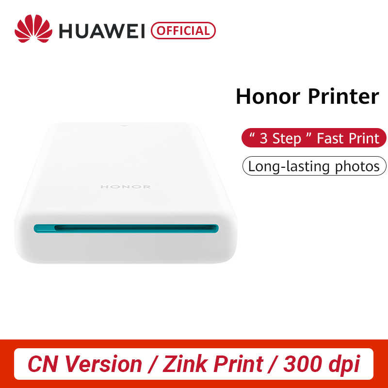 CN Versi Huawei Honor Pocket Photo Printer Zink Portable Mini Saku AR Printer Photo Printer 300 Dpi DIY Share 500 MAH