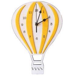 Styl skandynawski dzieci Cartoon gorący balon dmuchany wyciszenie zegara zegar pokój zegar ścienny dzieci wyjątkowe prezenty dekoracje domu