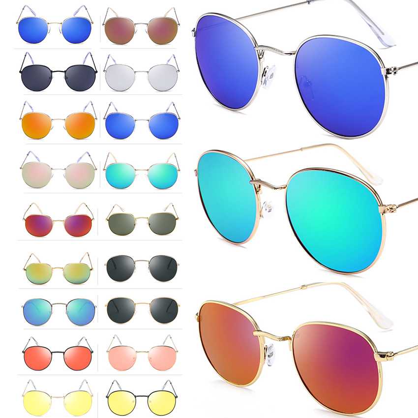 FOENIXSONG Women's Fashion Classic Round Sunglasses Driving Unisex Eyewear Male Sun Glasses For Men Oculos Gafas *RUSSIA STOCK