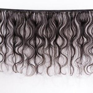 Image 2 - MOCHA Hair  10A Peruvian Virgin Hair Body Wave  3 Bundles With One 4* 4 Lace Closure 100% Human Hair Free shipping