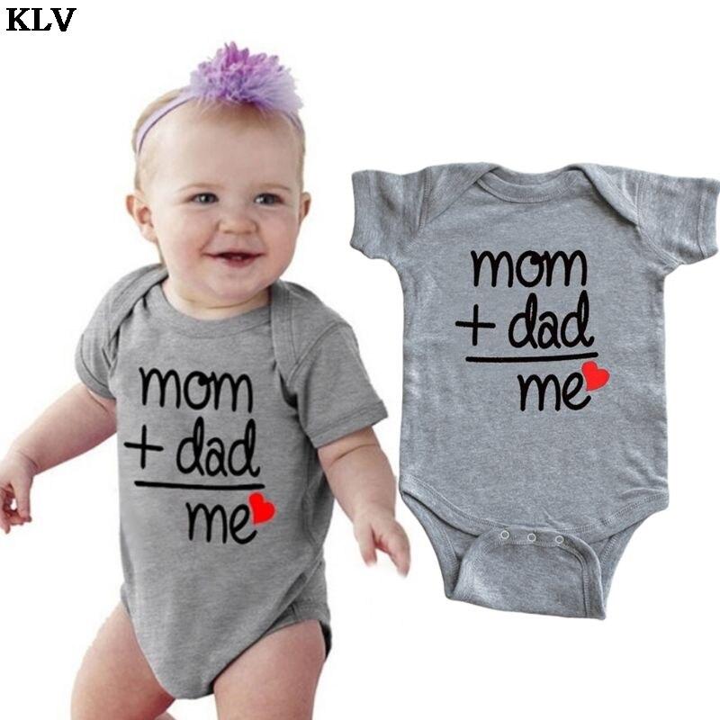 Infant Kids Baby Bodysuit Mom Gift Clothes Short Sleeve Letters Printed Leopard Romper Jumpsuit