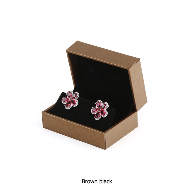Press Stud Earring Stud Storage Holder Display Packaging Present Charm Gift Box