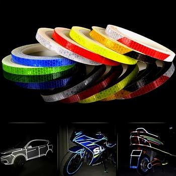 5cm * 1m Luminous Night Sticker akcesoria zewnętrzne do samochodu samoprzylepna taśma odblaskowa Reflex zewnętrzny pasek ostrzegawczy chroń karoseria tanie i dobre opinie CN (pochodzenie)