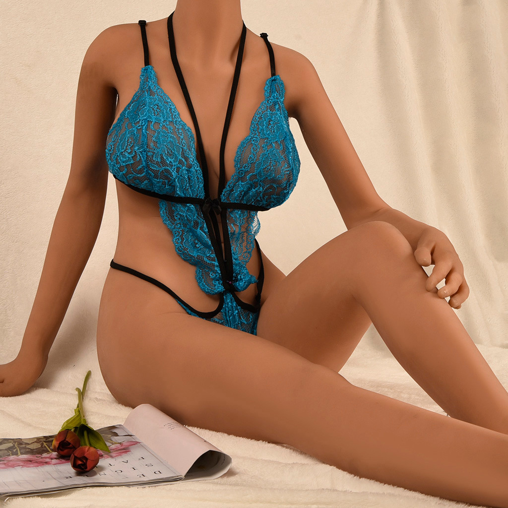 Plus Size Women Sexy Lingerie Lace Porno Sexy Underwear Hollow Erotic Babydolls Backless Sexo Latex Transparent Lenceria S-3XL