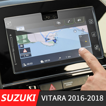 190x103mm Car Center Console Screen Sticker GPS Navigation Screen Tempered Steel Protective Film For Suzuki Vitara 4th 2016-2018 image