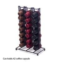Suporte da cápsula pode conter 42 cápsulas de café exibição rack de armazenamento da cápsula caixa de armazenamento