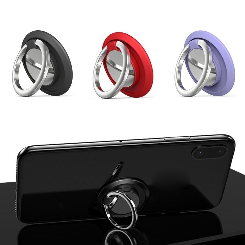 Universal Metal 360 Rotation Finger Ring Mobile Phone Stand Bracket Cradle for Magnetic Car Desk Cellphone Mount Holder