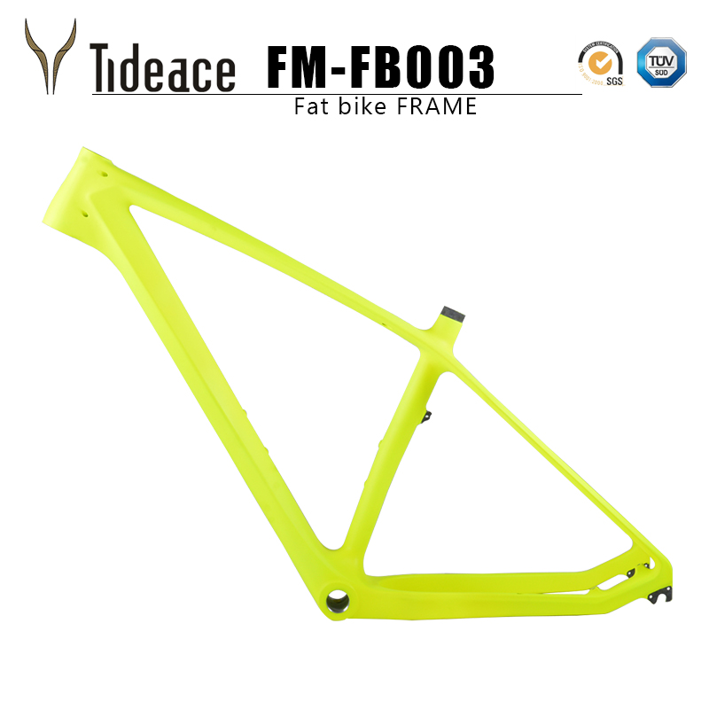 Tideace 2019 carbon fat bike frame with fork 26er max 140mm snow frameset frame+fork