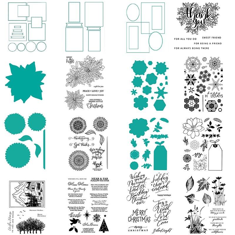 Спасибо, зелень, надпись на руку, чувства, рождественские штампы или мастер, вырезанные штампы для DIY бумажные карточки для скрапбукинга 2020