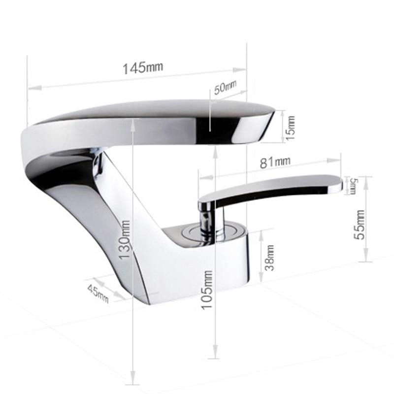 Vidric moderne bassin robinets cascade bassin robinets d'eau pour salle de bain Torneira da bacia mitigeur mitigeur lavabo