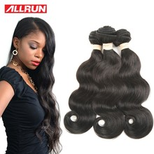 Hair-Extensions Brazilian Human-Hair Body-Wave Allrun Non-Remy 8a/9a-Grade