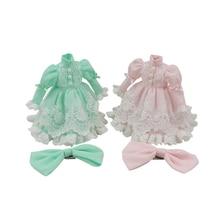 DBS Blyth icy 1/6 30 см кружевное платье с бантом розовый зеленый костюм принцессы подарок для девочки игрушка licca
