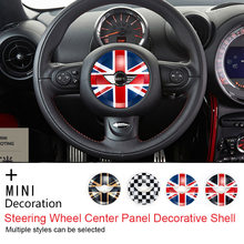 Steering Wheel Center Panel Car Sticker Decal Cover Stickers for MINI COOPER one R55 R56 R60 R61 R57 Countryman Clubman