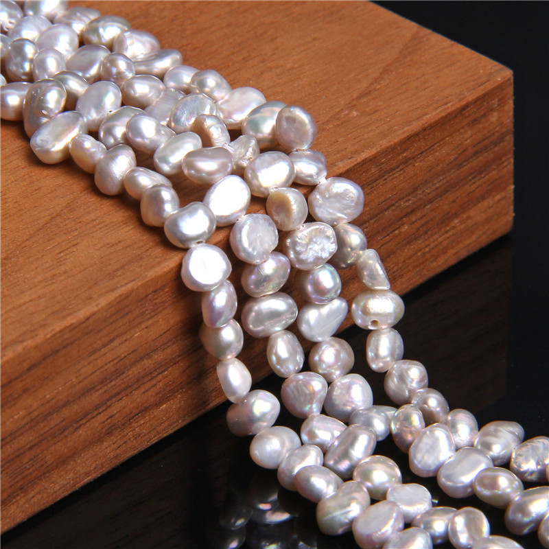 """14"""" Natural Freshwater Baroque Pearls Beads 4 mm Gray Pearls Bulk Lot Perla For DIY Making Jewelry Women Necklace Bracelets Gift"""