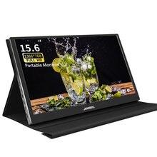 Moniteur d'ordinateur portable 2 en 1, 15.6 pouces, sortie HDMI, Type C, pour commutateur PS5, Raspberry Pi, Xiaomi TV, décodeur