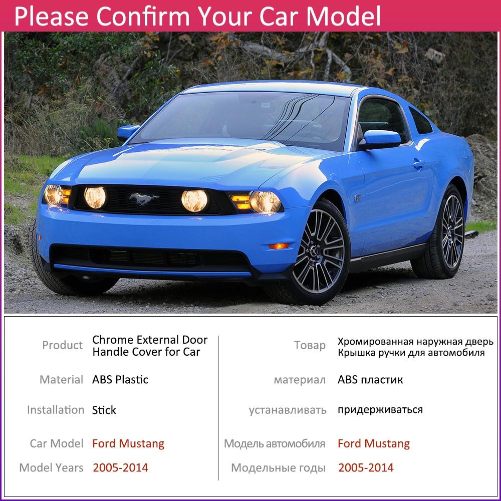 2005-2014 Ford Mustang Exterior Door Handles CHROME Outside Set Kit Shelby