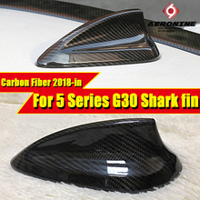 G30 Car Roof Antenna Cover Shark Fin Carbon Fiber For BMW 520i 525i 530i Style Accessories A-Style 2018-in