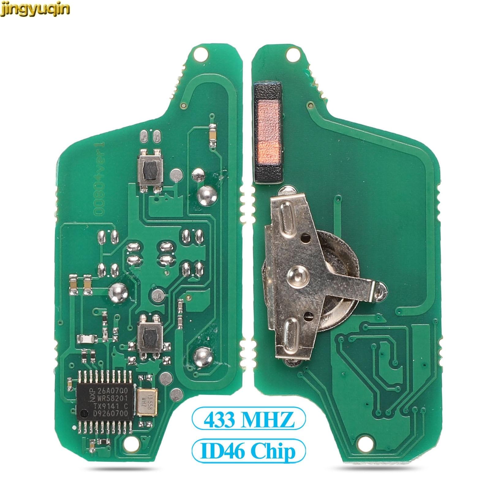 Control remoto llave de coche Junta FSK CE0536/0523 para Peugeot 307, 308, 407, 408 socio Citroen C3 C4 C5 C6 Berlingo XSARA Picasso 2/3 BTN