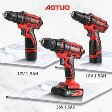 Two Speeds Electric Screwdriver Lithium Battery 12V/16.8V Cordless Electric Drill Handheld Electric Screwdriver Power Tools
