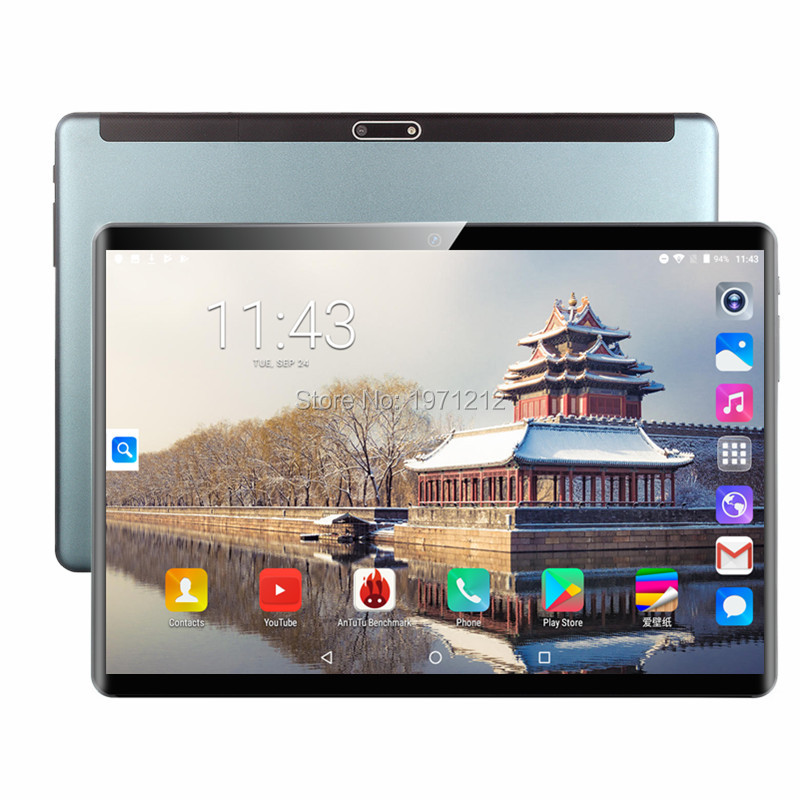 Versão Global Livre shipping10 polegada Tablet PC Octa Núcleo 4G LTE 6GB de RAM 128GB ROM Android 9.0 wiFi 1920*1200 IPS 2.5D Vidro + Presentes
