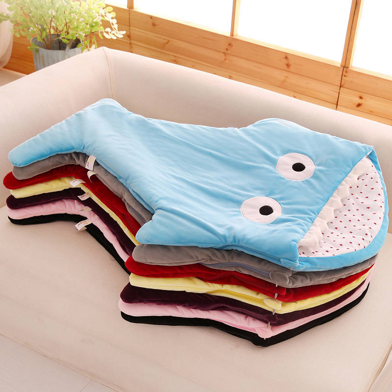 Image 3 - Newborn sleeping Wrap Bag kick proof cartoon baby child baby Soft Sleeping Blankets Boy Girl Swaddle baby bathrobe 0 16M-in Blanket & Swaddling from Mother & Kids