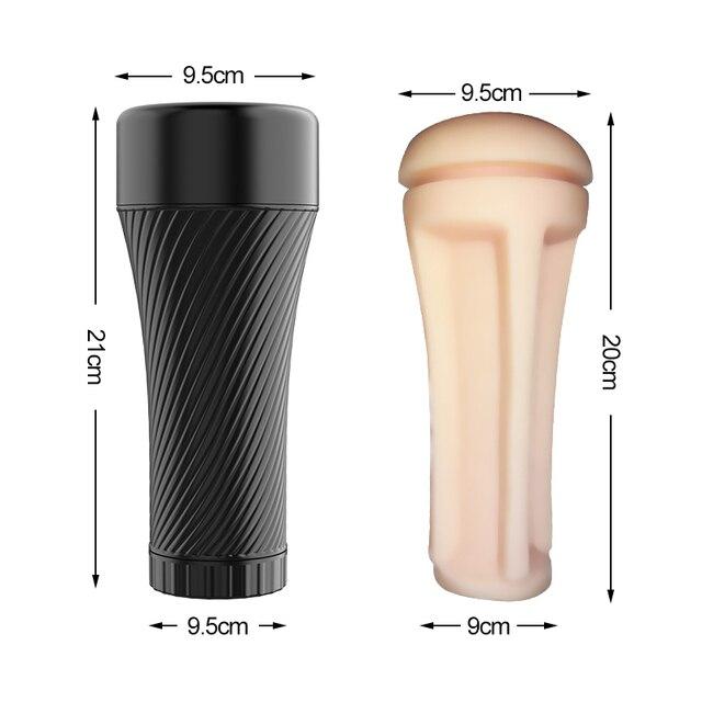 Realistic Vagina Pocket Pussy/Anal/Oral Sex Male Masturbator Erotic Adults Sex Toys Masturbation Cup for Men Intimate Goods 5