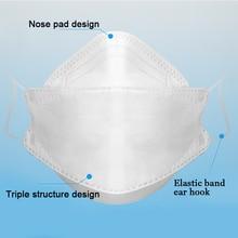 1 Pcs N95 Masks KF94 Mask PM2.5 Dust Mask Activated Carbon Filter Flu-proof Masks Soft Breathable Mouth Masks