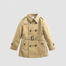 Ветровка для мальчиков, весенне-осенние детские куртки для детей, пальто для малышей с галстуком, теплая верхняя одежда для мальчиков