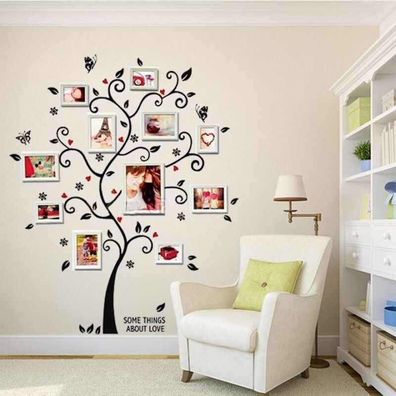 Cadre Photo bricolage arbre familial   Autocollants muraux amovibles en vinyle, autocollant Art, chambre maison, nouveau 2019