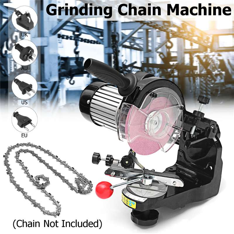 3600RPM Large Grinding Wheels Saw Chain Grinder Electric Chainsaw Sharpener 230W For Bench Chainsaw Sharpener AU/UK/EU/US Plug