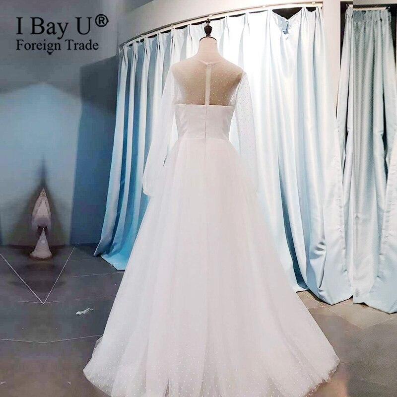 Boho Plus Size Wedding Dress 2020 Romantic White Bridal Gown