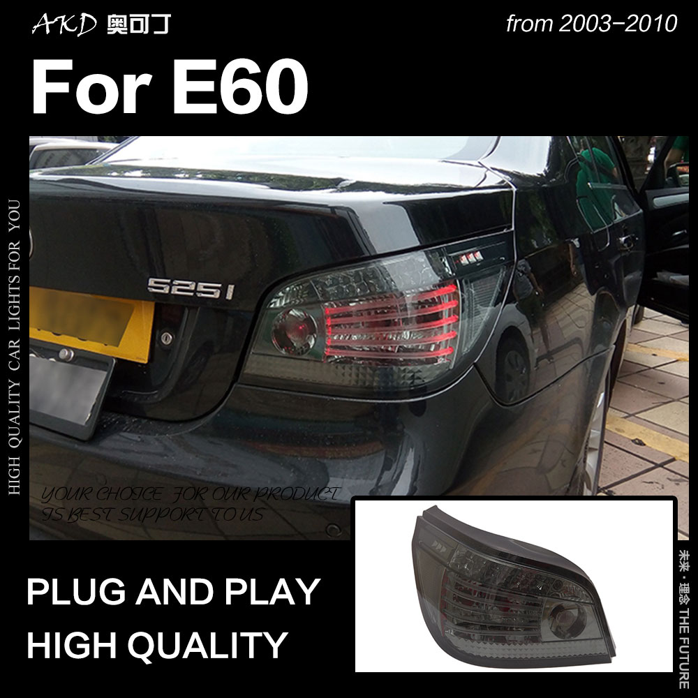 AKD voiture style pour BMW E60 feux arrière 2003-2010 525i feu arrière LED 523i feu arrière DRL Signal frein inverse auto accessoires